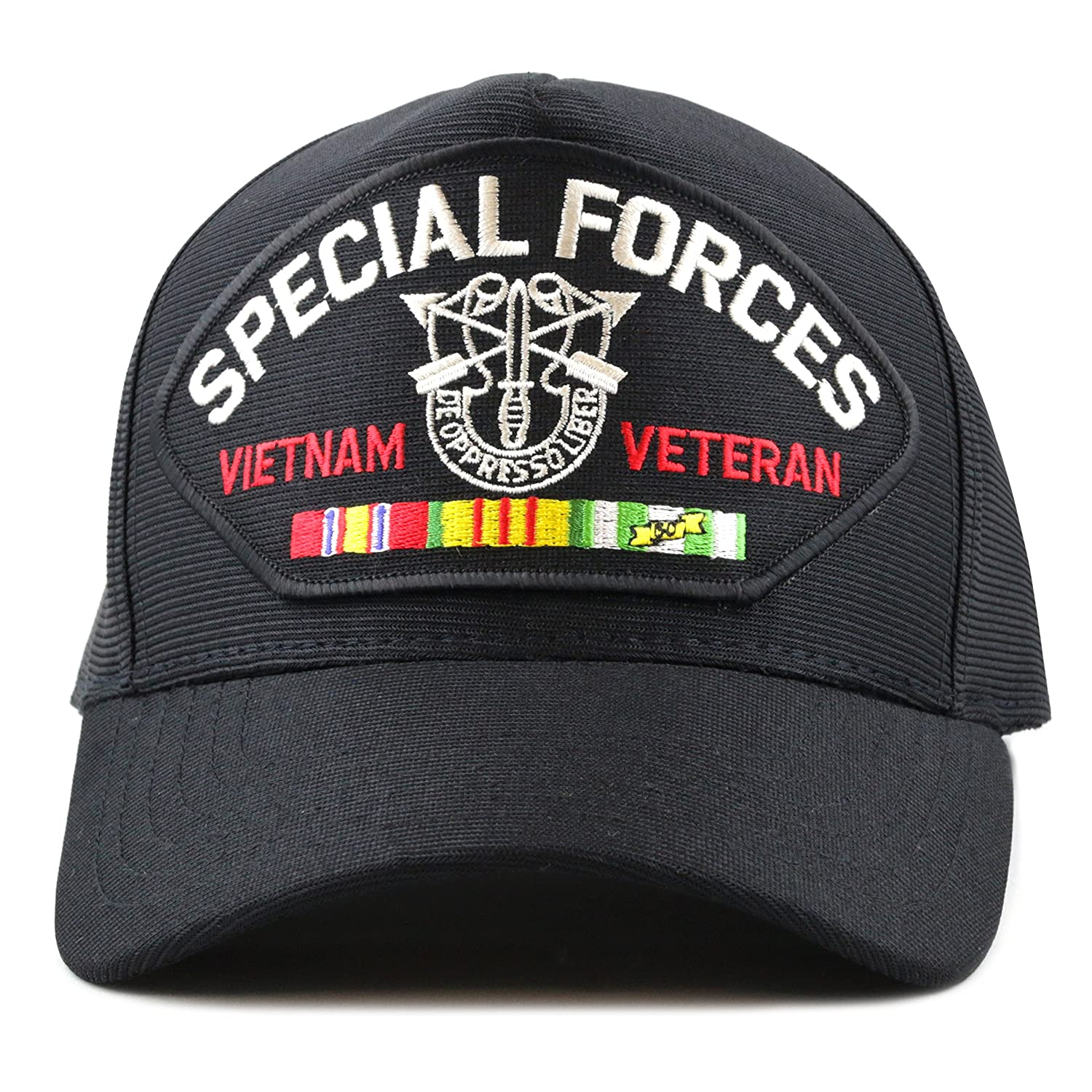 130a3a42b344b THE HAT DEPOT Made in USA Special Forces Vietnam Veteran Baseball Cap at  Amazon Men s Clothing store