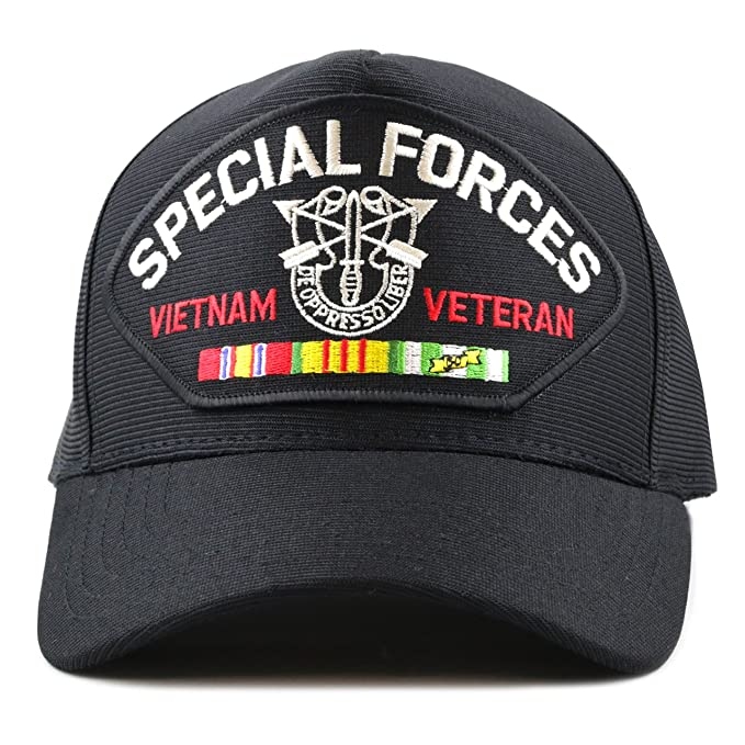 285f8cfb16d76 Image Unavailable. Image not available for. Color  THE HAT DEPOT Made in USA  Special Forces Vietnam Veteran ...