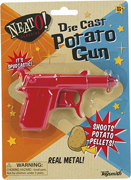 Free 1st Class Delivery Classic Potato Shooting Pistol Toy Gun