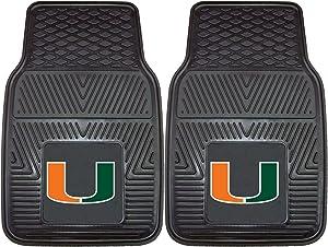 FANMATS NCAA University of Miami Hurricanes Vinyl Heavy Duty Car Mat