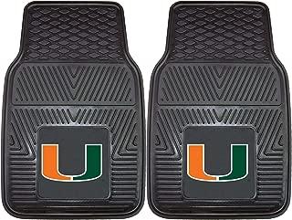 product image for FANMATS NCAA University of Miami Hurricanes Vinyl Heavy Duty Car Mat
