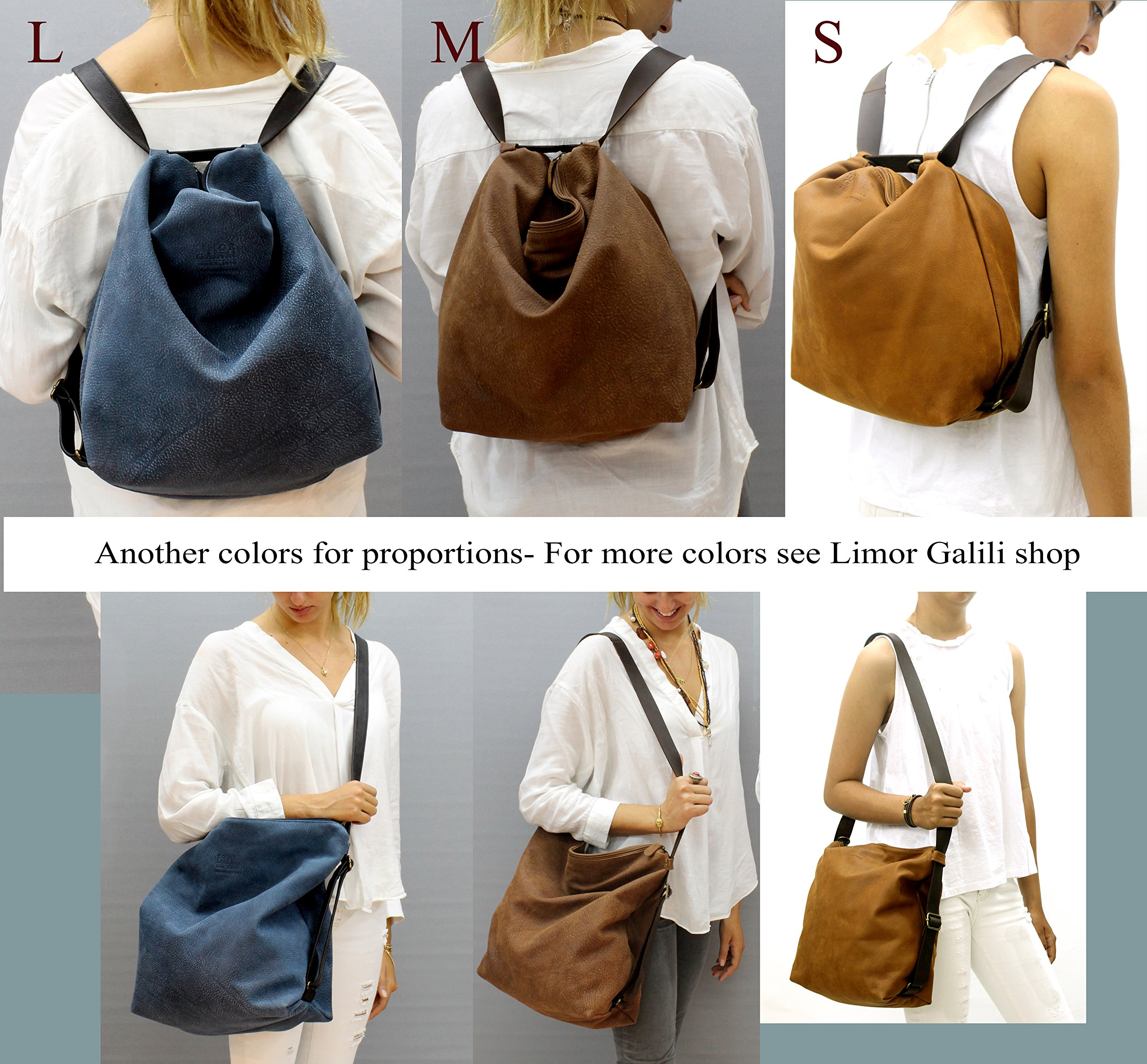 Black leather convertible crossbody backpack laptop woman's soft handmade back pack Shoulder bag