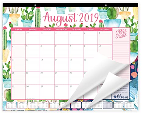 Amazon Com Bloom Daily Planners 2019 Calendar Year Desk Or Wall