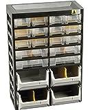 Allit 458160 Kleinteiledepot, schwarz, gelb