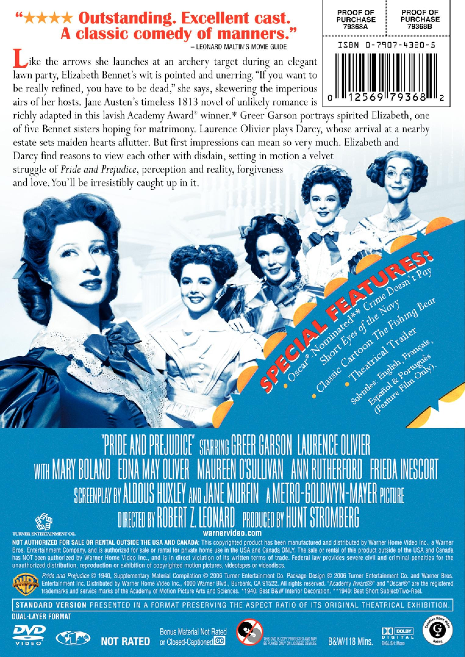 Pride and Prejudice by Warner Brothers
