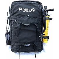Driver13 ® Kitebag Spare - Mochila de repuesto para kite, color negro hasta 19 m²