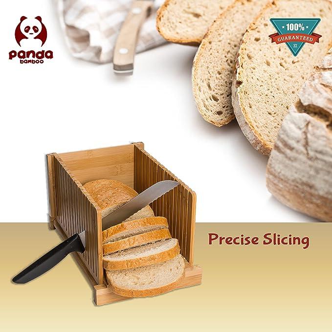 Amazon.com: Cortador de pan de bambú: Kitchen & Dining