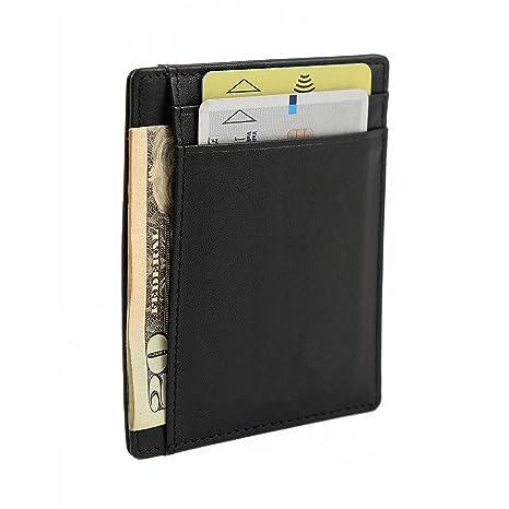 792c76d9a5 Porta carte sottile di Nomalite | Portafoglio nero da tasca per carta di  credito e fedelta ...