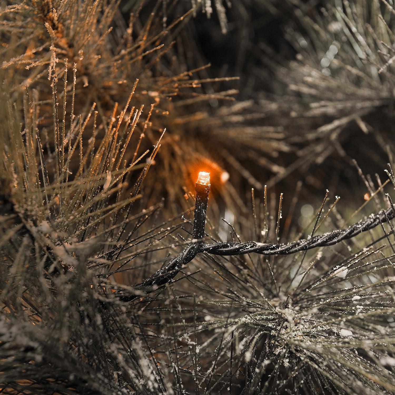 C/âble Noir 24 V Konstsmide 3611-850 Guirlande 80 Micro LED Orange
