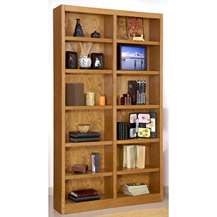 com five double dp shelf bookcases quot amazon h beaumont bookcase arched