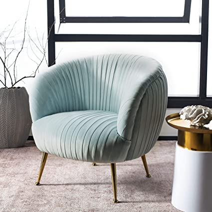 Blue Accent Chairs For Living Room.Amazon Com Safavieh Knt5024c Home Collection Ottillia Shell Ice