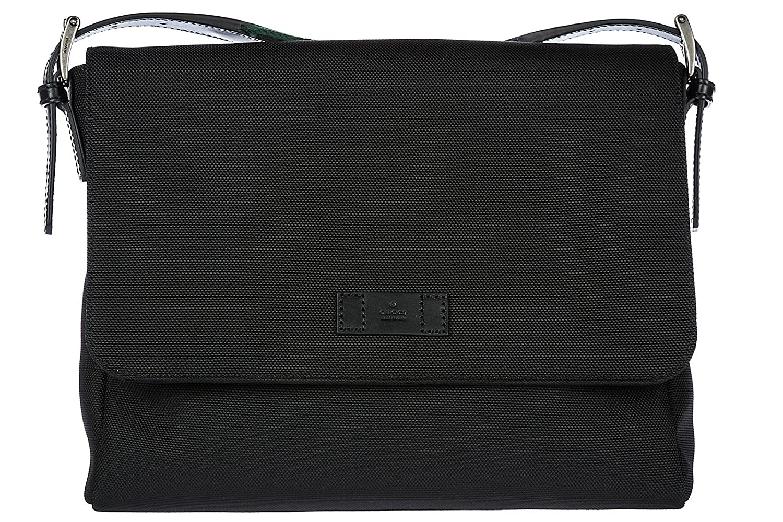 aed4ca64b21c74 Gucci men's cross-body messenger shoulder bag techno canvas black:  Amazon.co.uk: Shoes & Bags