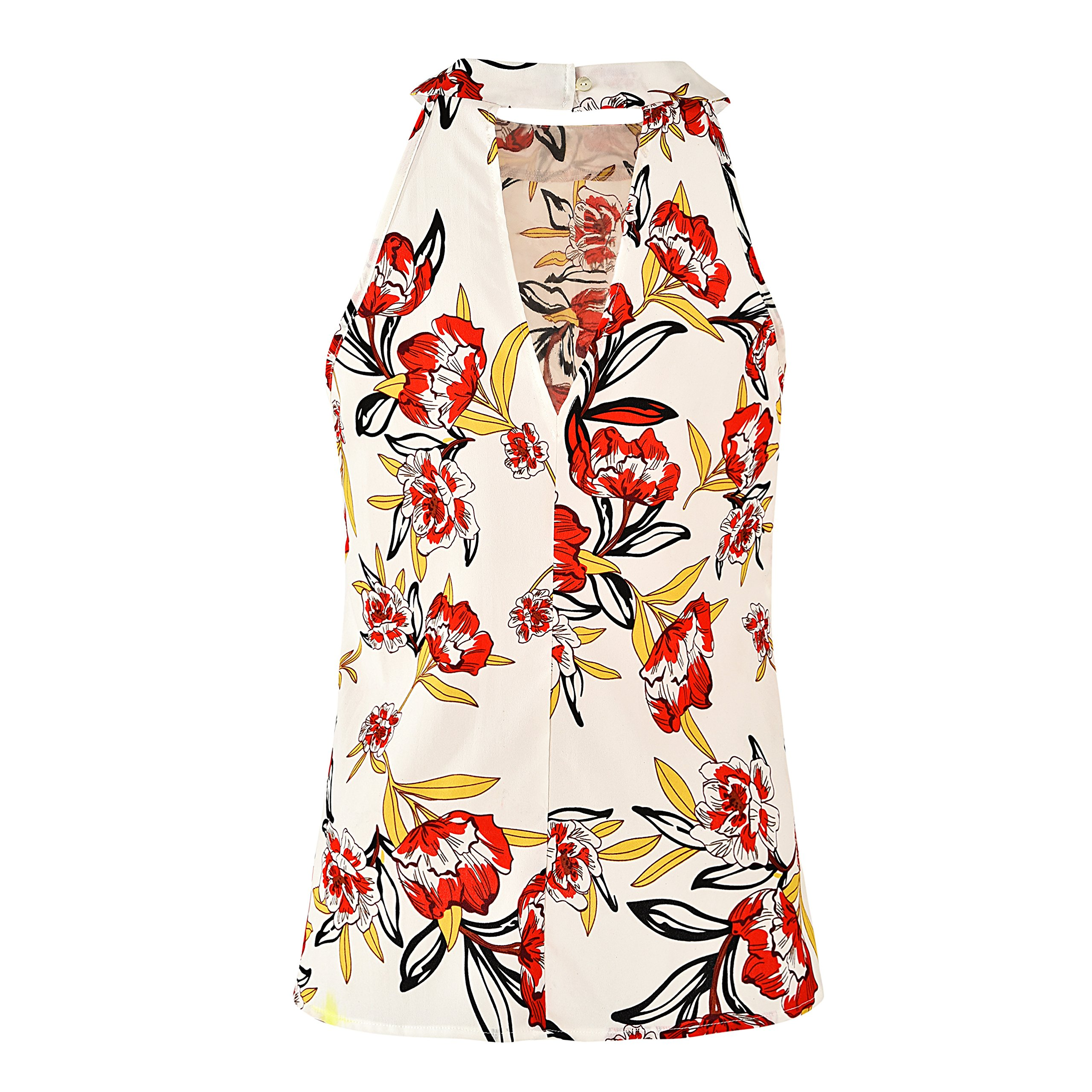 Comcrib Womens Casual Floral Printed Sleeveless Vest Shirt, Ladies Tank Top Blouse Tunic Tops Summer Beachwear T-Shirt by Comcrib (Image #3)