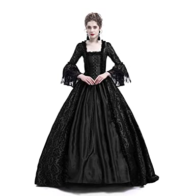 3f73b9bd62df D-RoseBlooming Black Masked Masquerade Ball Gown Gothic Victorian Dress  Costumes (X-Small