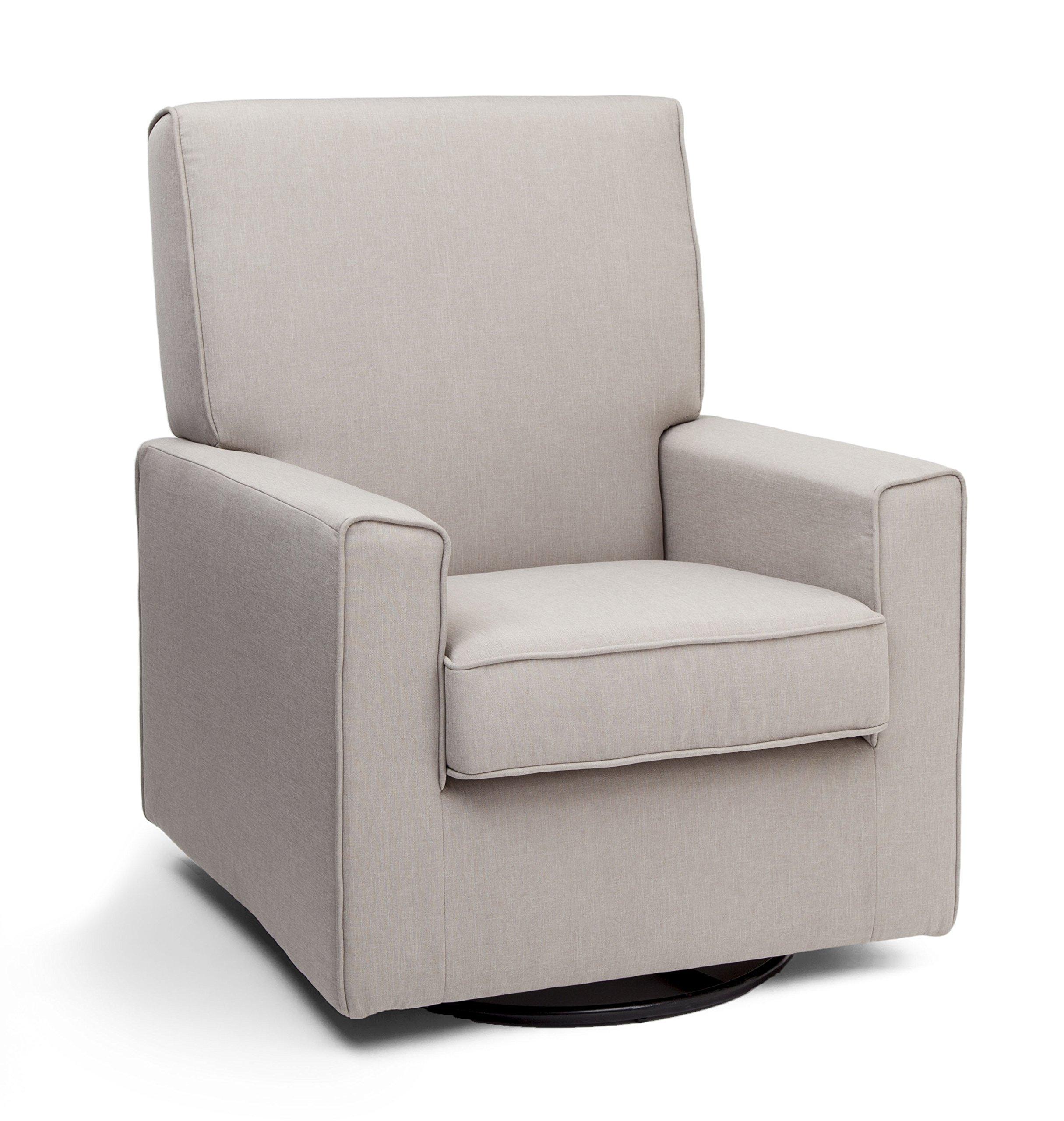 Delta Furniture Eva Upholstered Glider Swivel Rocker Chair, Taupe