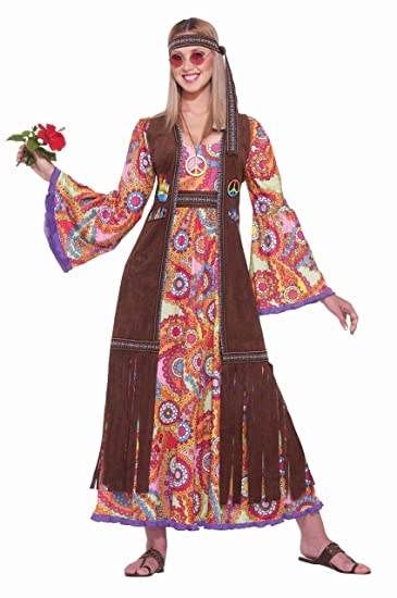 70s Costumes: Disco Costumes, Hippie Outfits Forum Novelties Womens Hippie Love Child Costume $39.95 AT vintagedancer.com