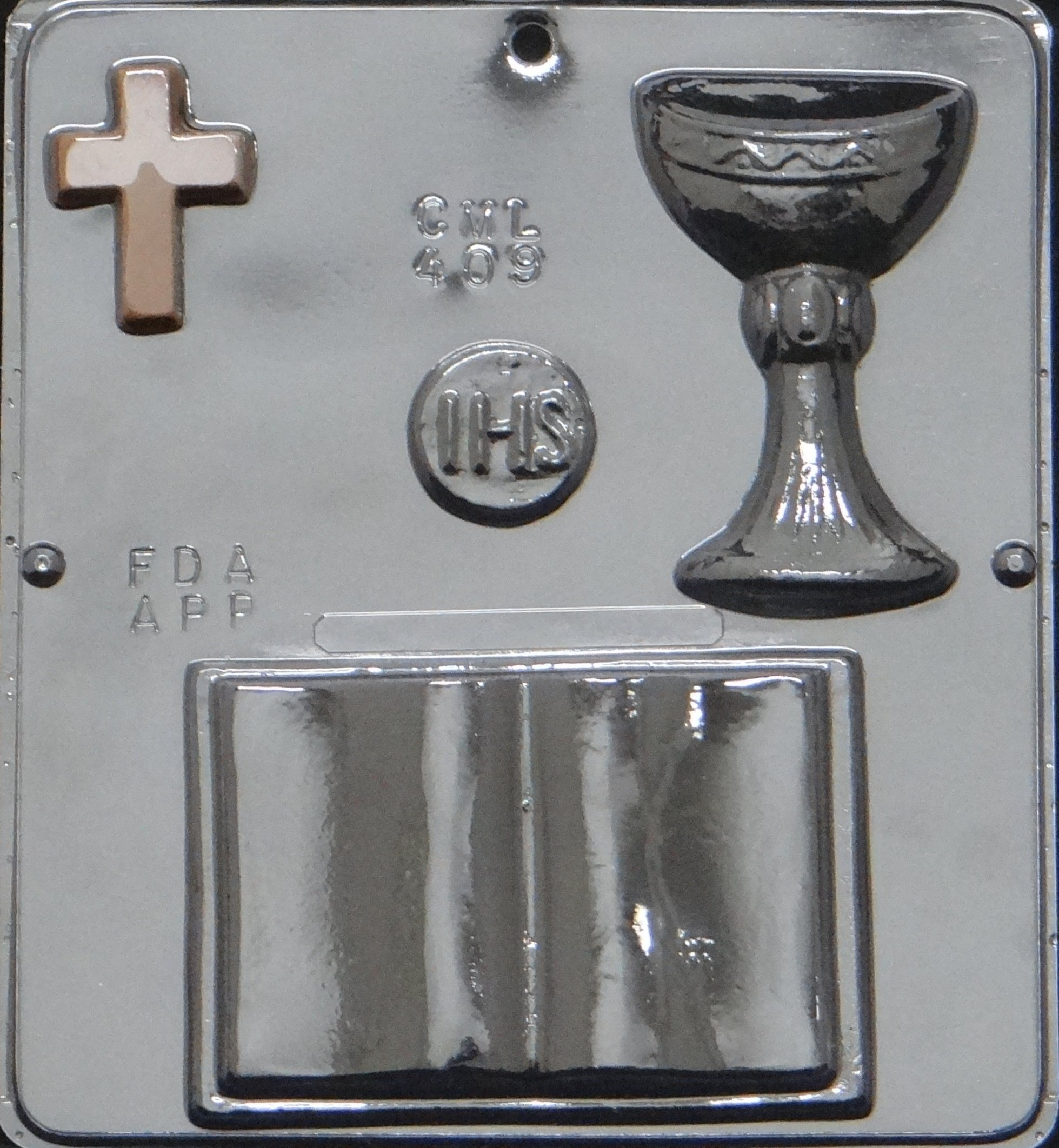 First Communion Bible Chocolate Candy Mold Religious 409