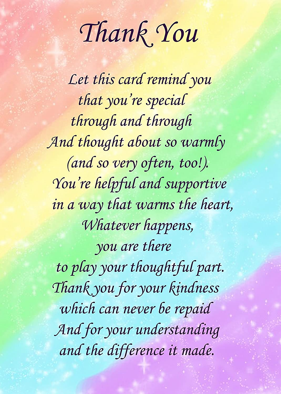 Thank You Poem Verse Greeting Card