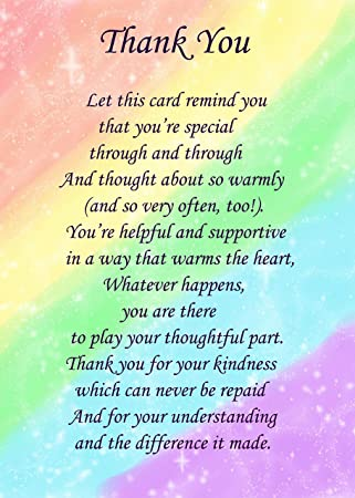 Thank you poem verse greeting card 8x6 mix match on 8x6 cards thank you poem verse greeting card 8x6 mix match on 8x6 cards any m4hsunfo