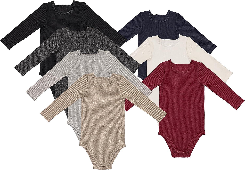 Lil Legs Boys Girls Unisex Baby Long Sleeve Ribbed Bodysuit