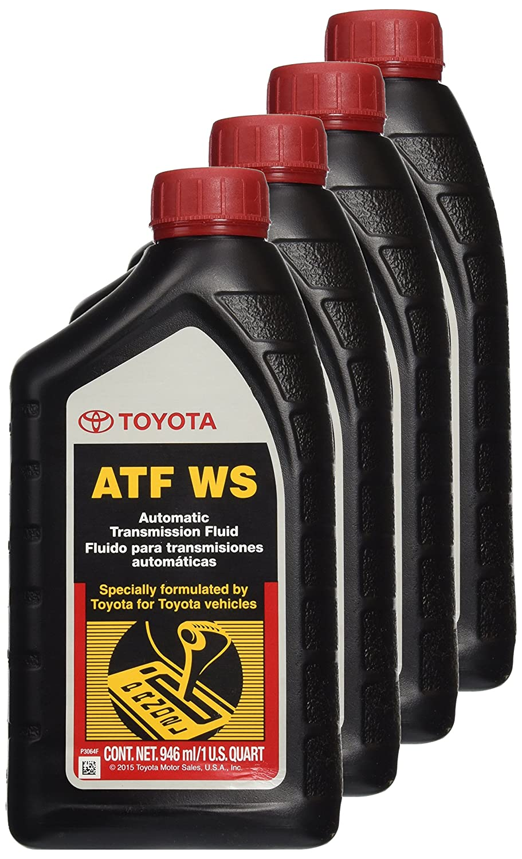 Amazon.com: Genuine Toyota Lexus Automatic Transmission Fluid 1QT WS ATF  World Standard (4 Pack): Automotive