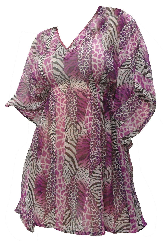 LA LEELA Coverup Beach Bikini Swimwear Swimsuit Kimono Dresses Women Printed