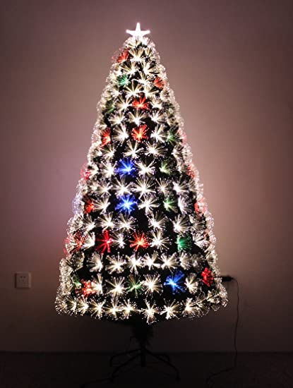 LED FIBER OPTIC CHRISTMAS TREE (6ft) - Amazon.com: LED FIBER OPTIC CHRISTMAS TREE (6ft): Home & Kitchen