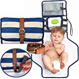 Portable Changing Pad - Baby Changing Purse | The Only Diaper Clutch with a Shoulder Strap Option | Portable Changing…