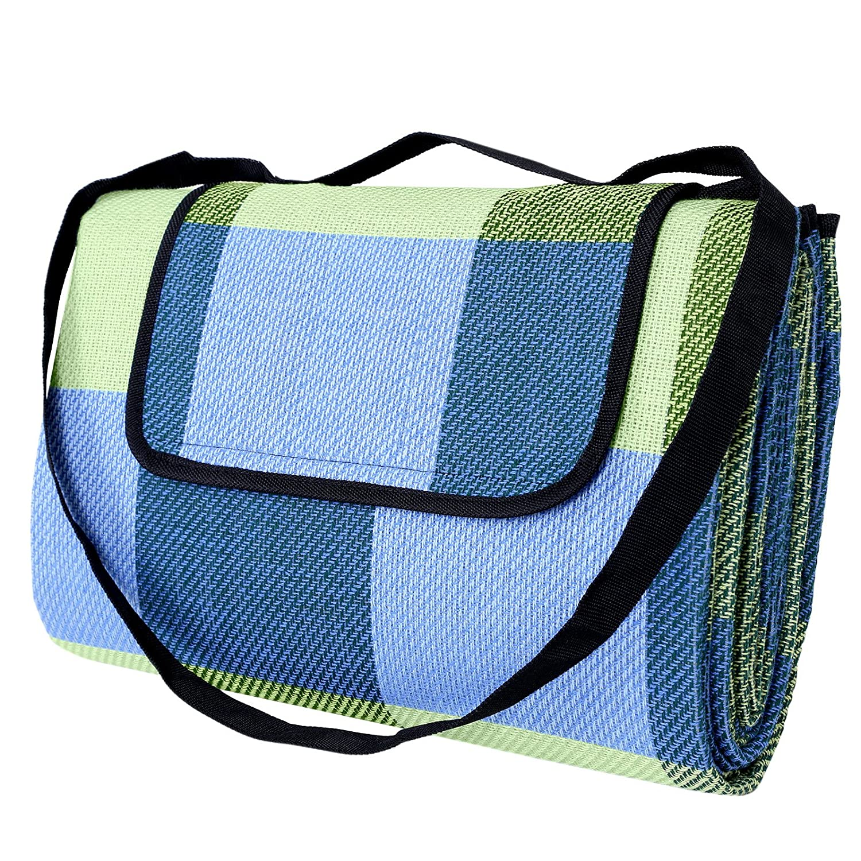 SONGMICS Picnic Blanket Waterproof Beach Camping Outdoor Blanket Mat 77