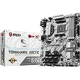 MSI Gaming AMD Ryzen B350 DDR4 VR Ready HDMI USB 3 ATX Motherboard (B350 TOMAHAWK ARCTIC)