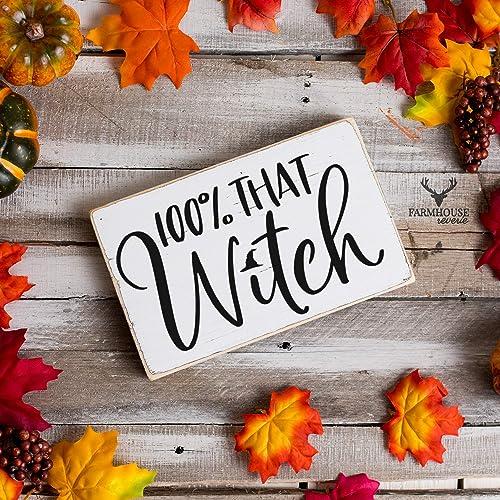 Amazoncom 100 That Witch Sign Halloween Decor Witch