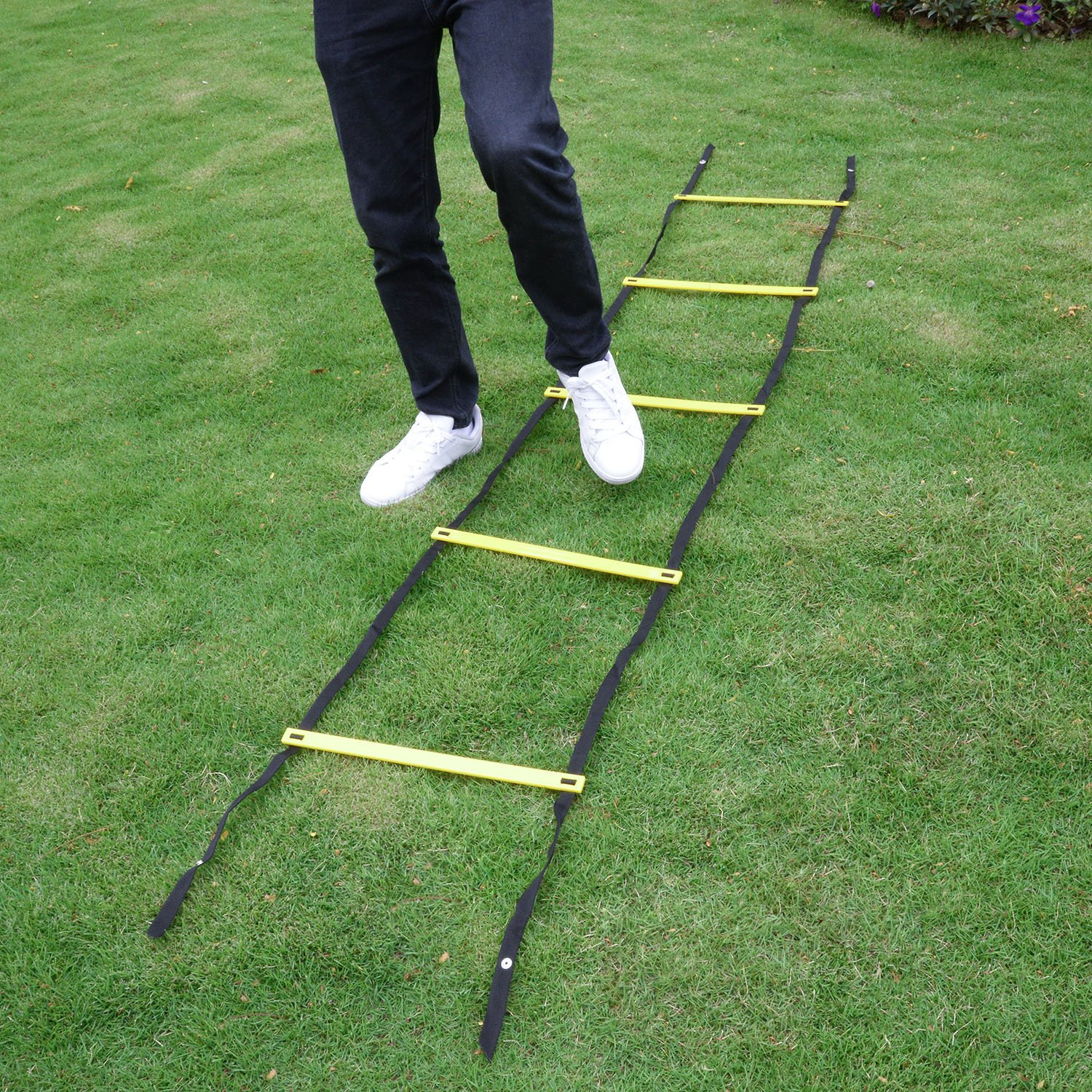 Kearui Speed Training Agility Ladder Quick Sports Ladder 12 Rung 6m Speed Training Equipment Adjustable Exercise Tool with Carry Bag for Soccer, Speed, Football Fitness Feet Training by Kearui (Image #4)