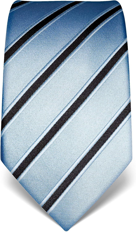 Vincenzo Boretti Herren Krawatte reine Seide gestreift edel M/änner-Design zum Hemd mit Anzug f/ür Business Hochzeit 8 cm schmal//breit