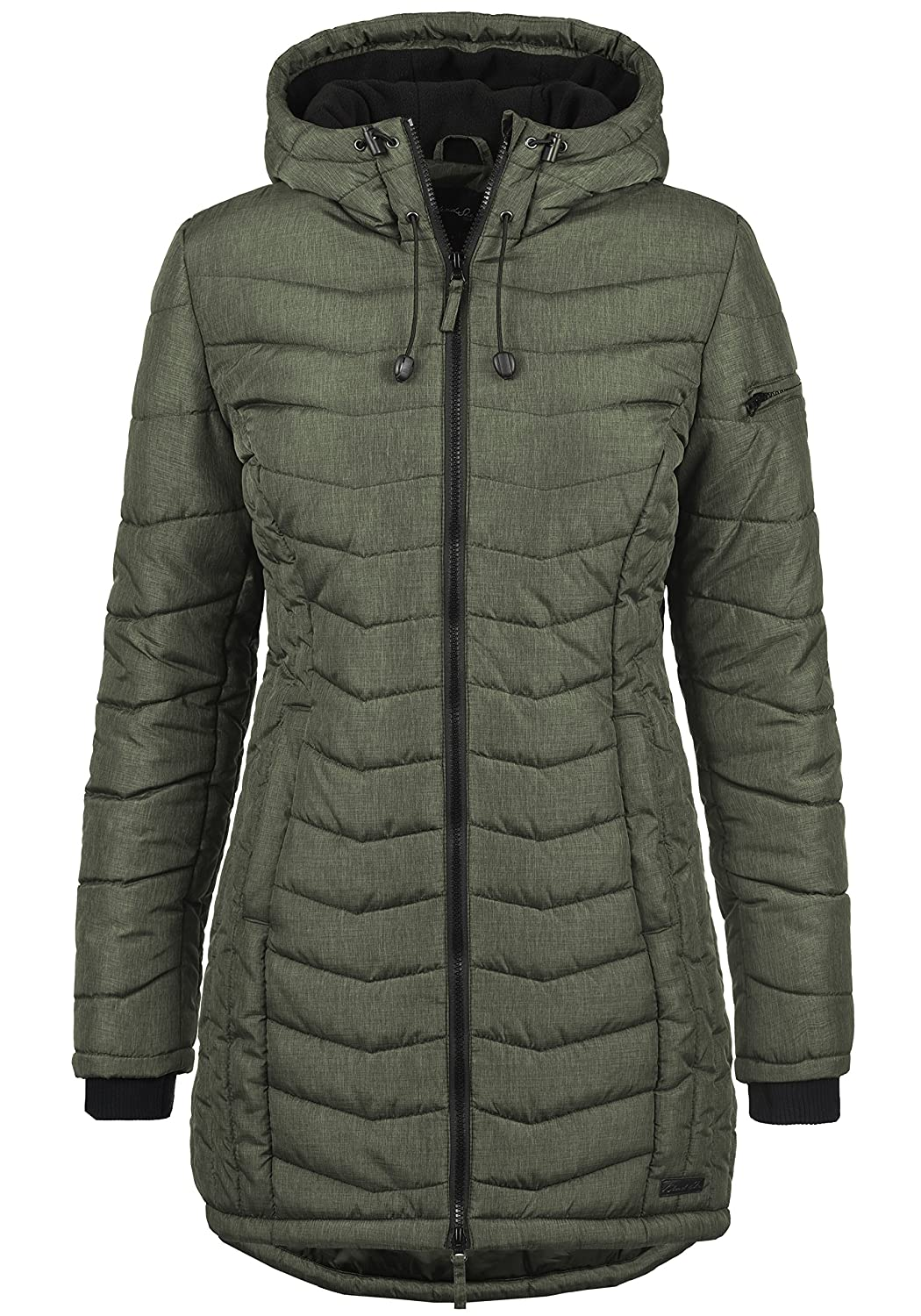 BlendShe Nelly Women's Quilted Coat Parka Outdoor Jacket with Hood