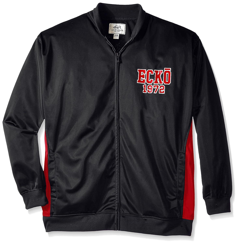 Ecko Unlimited Men's Big Tricot Jacket Black 3X/Big EK35P58