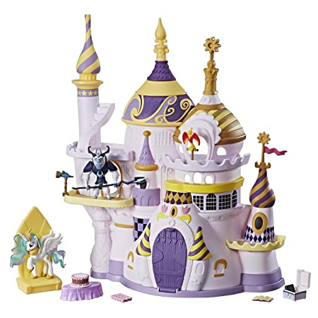 My Little Pony Friendship is Magic Collection Canterlot Castle Playset Soft Dolls at amazon