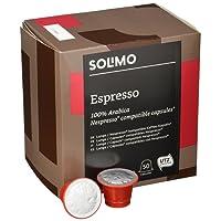 Marchio Amazon- Solimo Capsule Espresso, compatibili Nespresso - caffè certificato UTZ, 100 capsule (2 x 50)