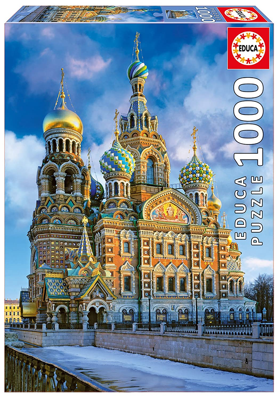 【代引き不可】 1000ピース ジグソーパズル Cathedral Educa Christ, ペテルブルク教会 Cathedral of B00SFH1OOQ the Resurrection of Christ, St.Petersburg 48×68 16289 B00SFH1OOQ, COMODO VIENTO:0395be4f --- a0267596.xsph.ru