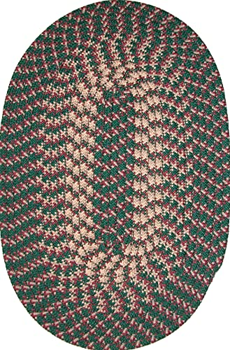 Constitution Rugs Hometown 5 x 8 Braided Rug in Hunter Green