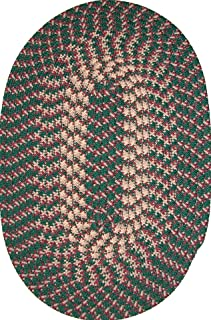 product image for Constitution Rugs Hometown 5' x 8' Braided Rug in Hunter Green