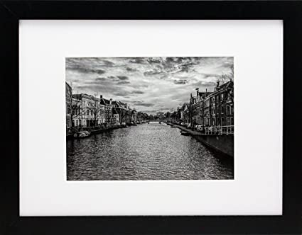 Amazon.com - 9x12 Black Gallery Picture Frame with 6x8 Mat - Wide ...