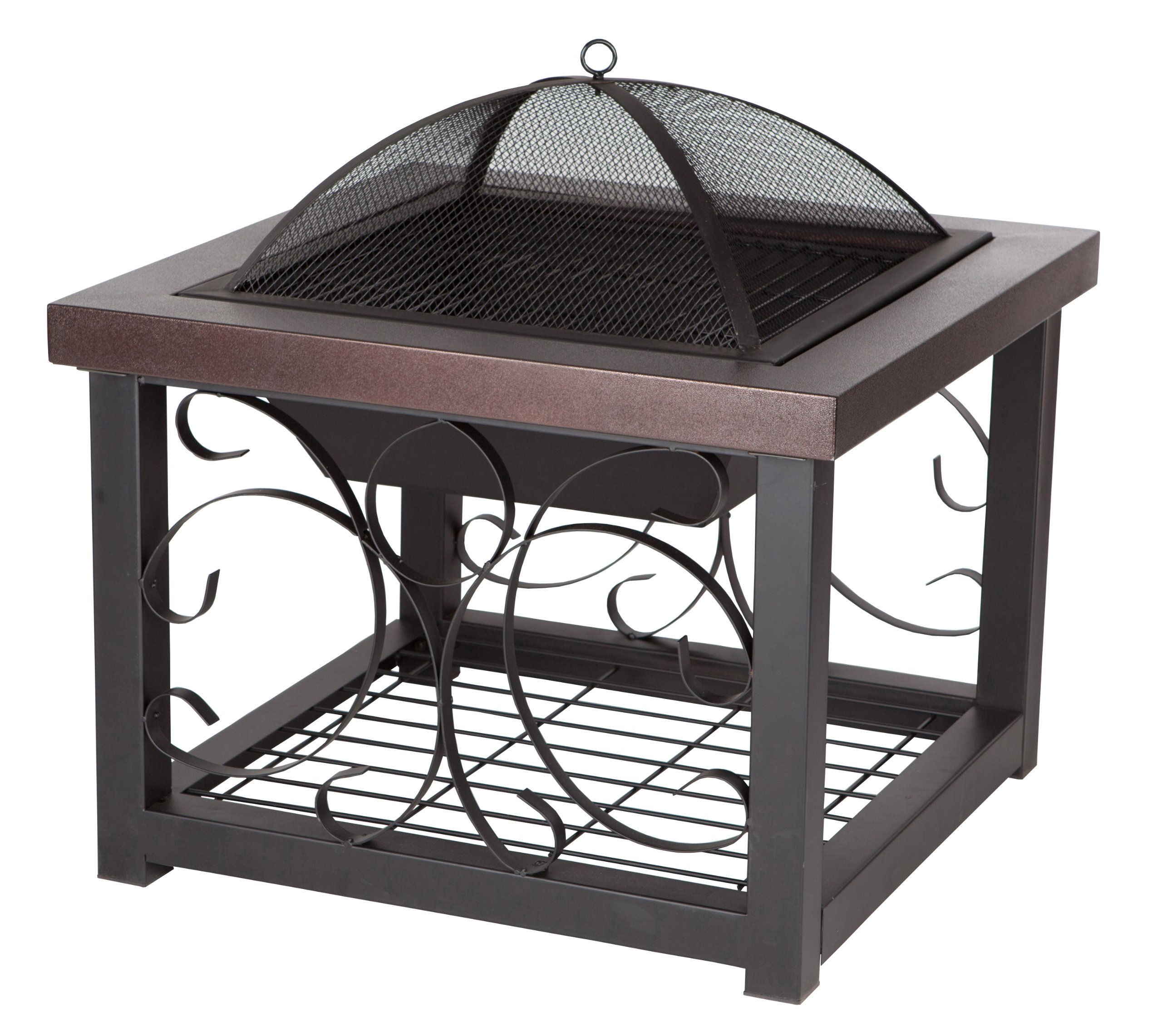 Fire Sense Cocktail Table Fire Pit, Hammer Tone Bronze Finish by Fire Sense