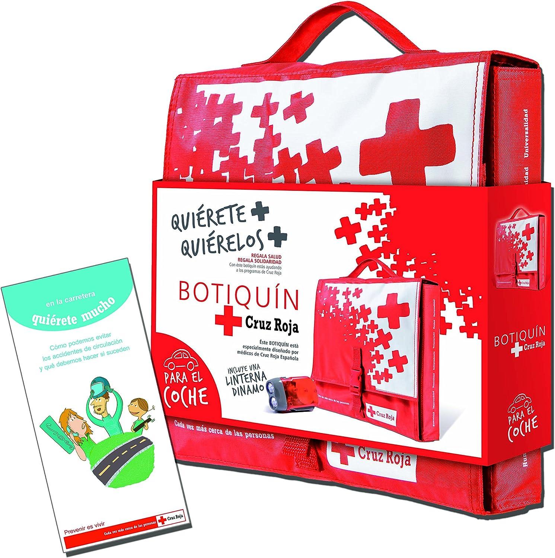 Botiquín Cruz Roja Primeros Auxilios en Nylon para Coche- 1500 gr: Amazon.es: Salud y cuidado personal