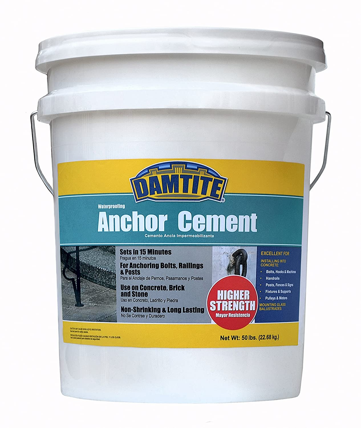 Image of Coatings Damtite 08502 Gray Anchor Cement, 50 lb. Pail
