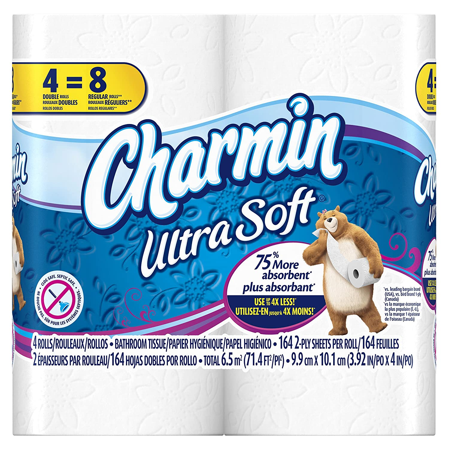 Amazon Charmin Ultra Soft Toilet Paper 40 Double Roll 10 Packs Of 4 Rolls Health Personal Care