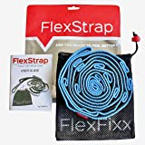 FlexFixx Stretch Strap for Yoga, Dance, Physical Therapy, Rehab with 12 Loops, Padded Footrest, User Guide for Stretching