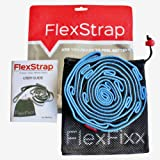 FlexFixx STRETCH STRAP for Increasing Flexibility - Best for Fitness, Yoga, Dance, Pilates, Physical Therapy, Rehab with 12 Loops, Padded Footrest, Bag and User Guide