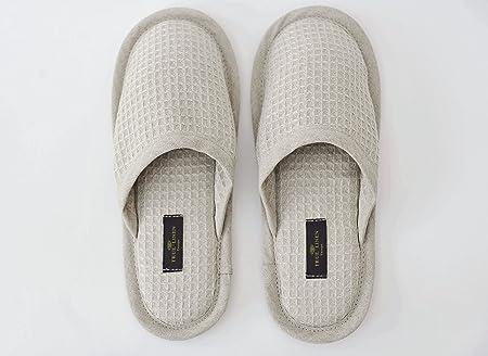 Lino y algodón orgánico abarquillado Unisex Zapatillas en Natural: Amazon.es: Hogar