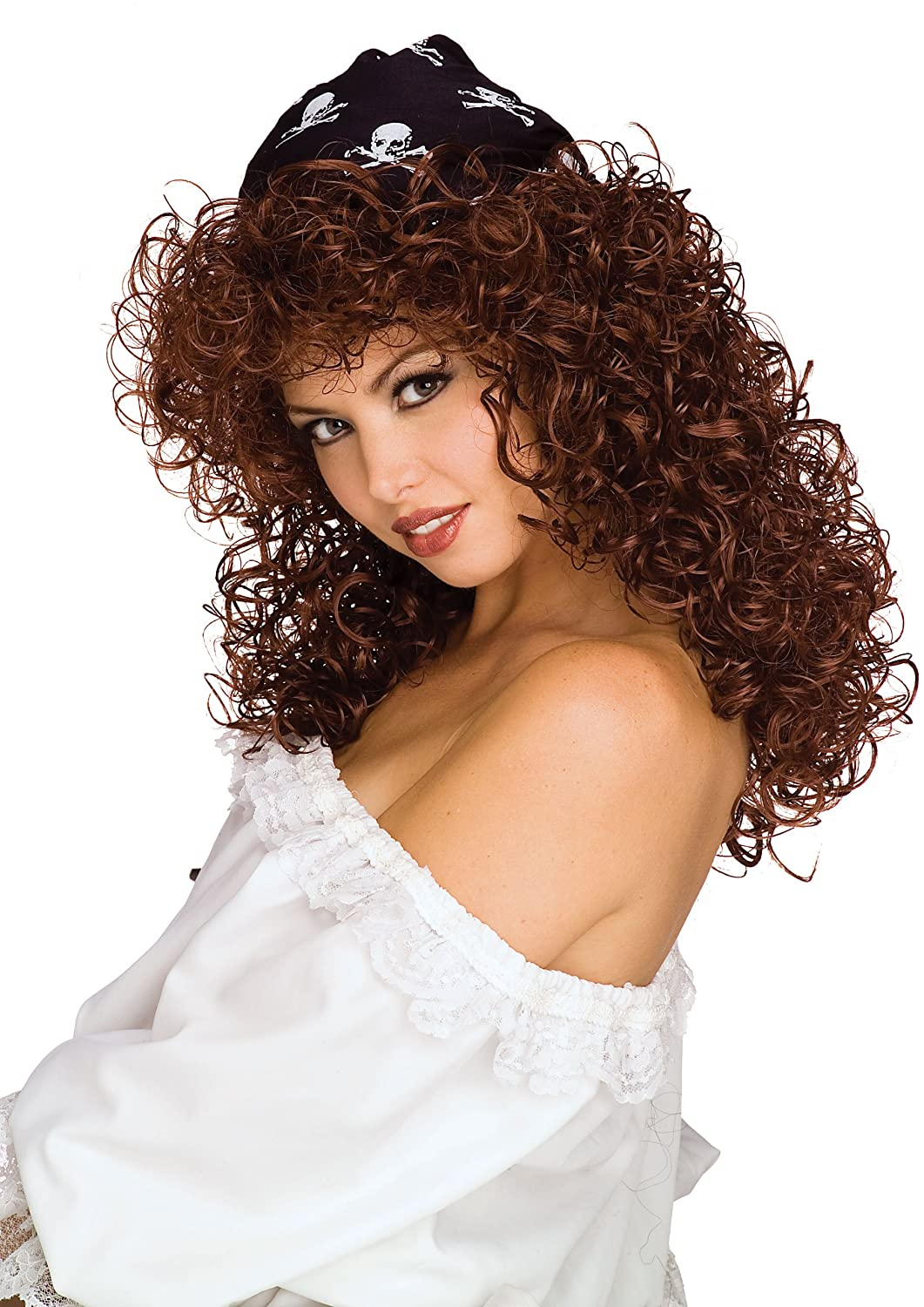 Rubies Costume Pirate Vixen Long Curly Wig Brown One Size Rubies Costume Co (Canada) 51453