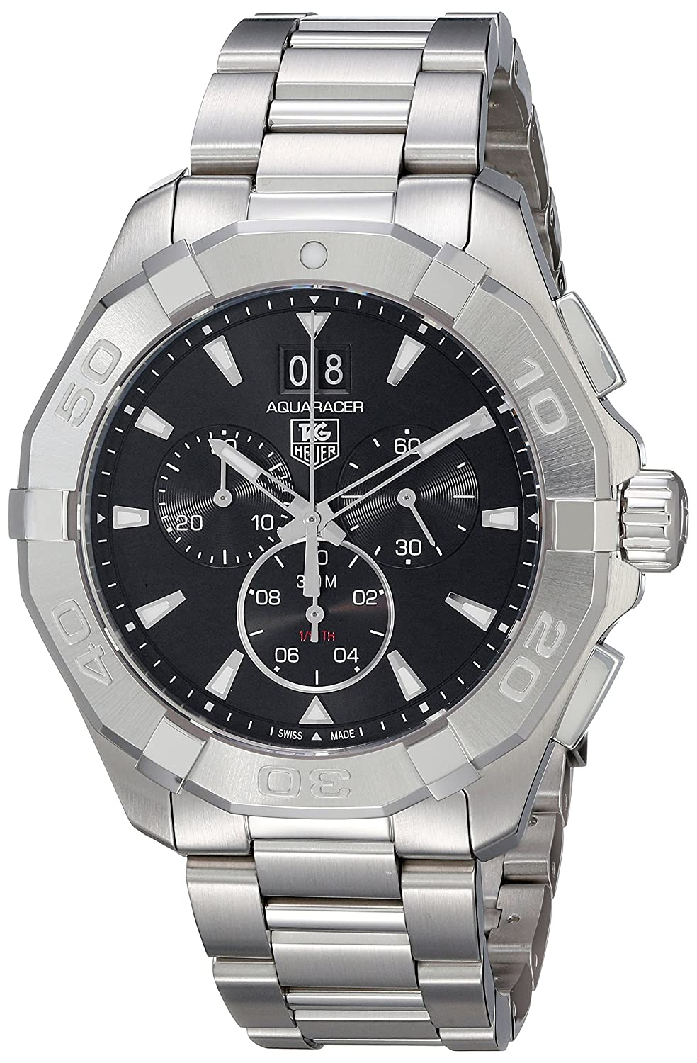 TAG Heuer Men s CAY1110.BA0925 Analog Display Quartz Silver Watch